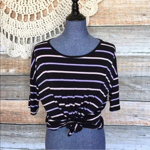 LuLaRoe Irma Striped Tunic Top